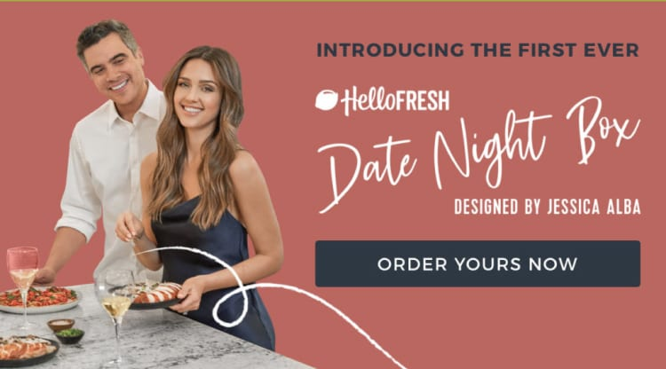 date night box with jessica alba-hello fresh date night meal kit- mealfinds