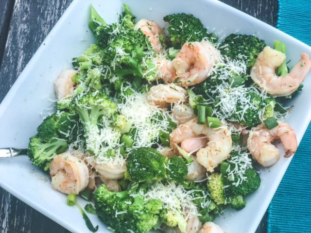 shrimp and brocolli in bowl-marley spoon reviews-mealfinds