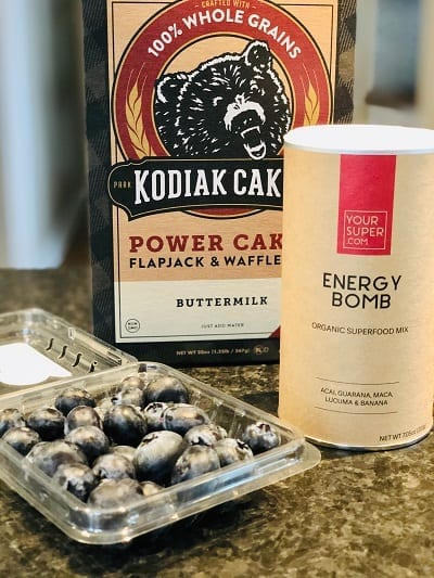 your super-energy-bomb-blueberry-pancake-ingredients-your super superfood reviews-mealfinds