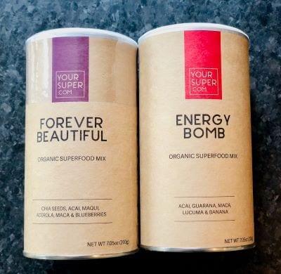 your super superfood-powder-mixes side by side-your super superfood reviews-mealfinds
