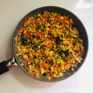 Daily-Harvest-Red-Lentil-Cumin-Harvest-Bowl cooked in pan-daily harvest reviews-mealfinds