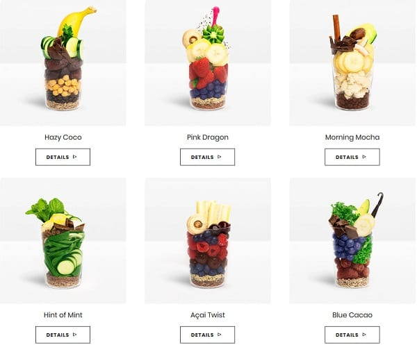 revive-superfoods-smoothie-flavors menu-revive superfoods review-mealfinds