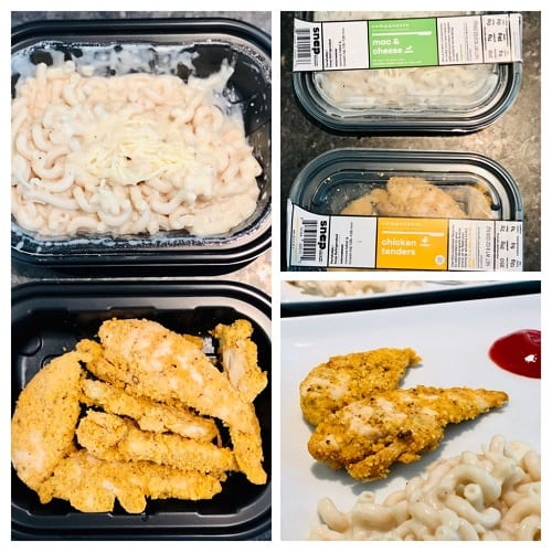 chicken-tenders-mac-and-cheese-snap kitchen reviews-mealfinds