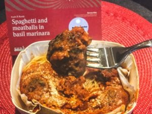 spaghetti and meatballs in bowl meatball on fork-sunbasket reviews-mealfinds
