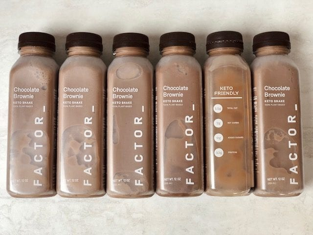 factor-keto-chocolate-brownie-shakes-factor healthy prepared meals reviews - mealfinds