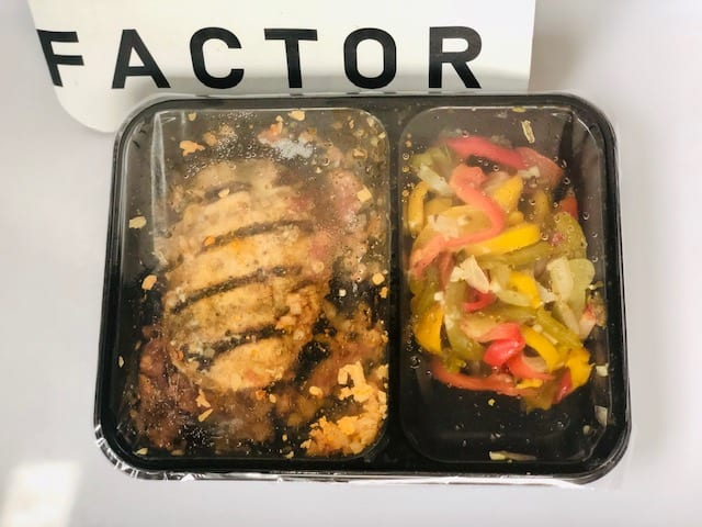 factor red-chile-chicken-enchilada-factor healthy prepared meals reviews - mealfinds