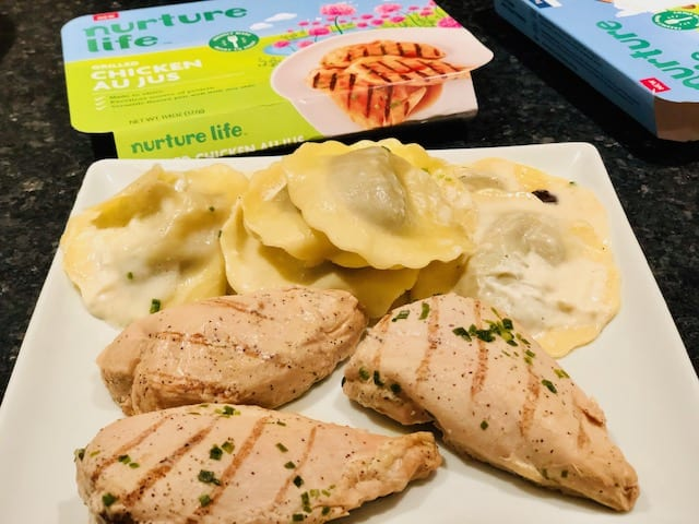 family-meals chicken and ravioli-nurture life reviews-mealfinds