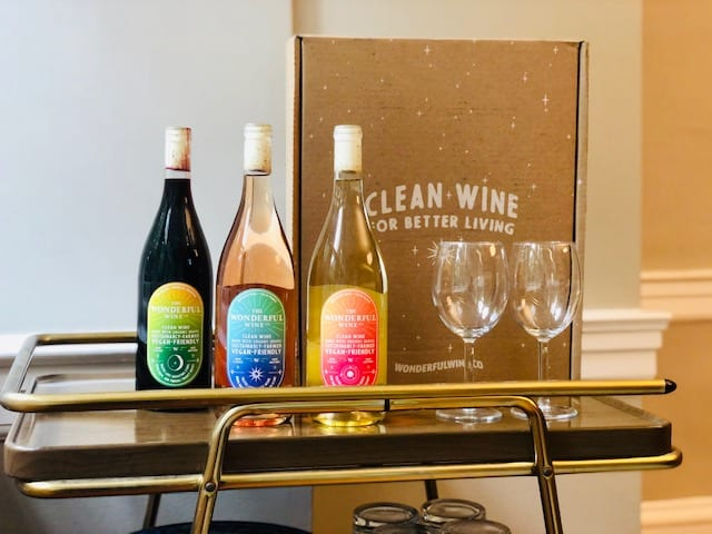 the-wonderful-wine-co-starter-pack on bar cart-wonderful wine co reviews-mealfinds