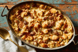 Marley-Spoon-Thanksgiving Cheesy Sausage Dressing 1