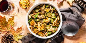 brusselsSprouts-purple carrot plant based thanksgiving meal kit-mealfinds