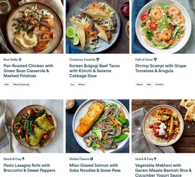 gobble-menu-Gobble Meal Kit Reviews-mealfinds