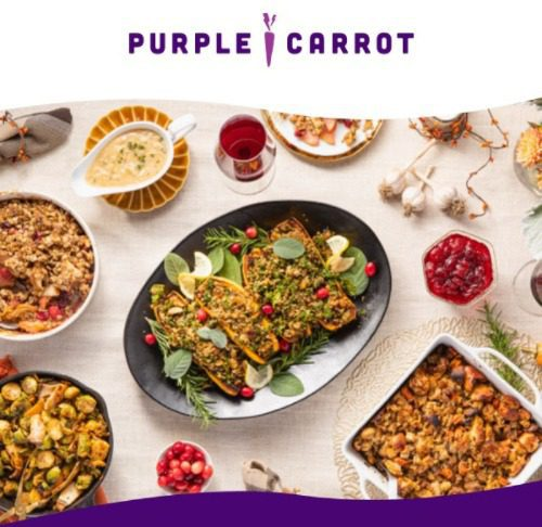 plant-based thanksgiving meal kit-purple carrot thanksgiving-mealfinds
