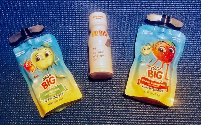 fruit pounch and energy shot- vegancuts snack box review-mealfinds
