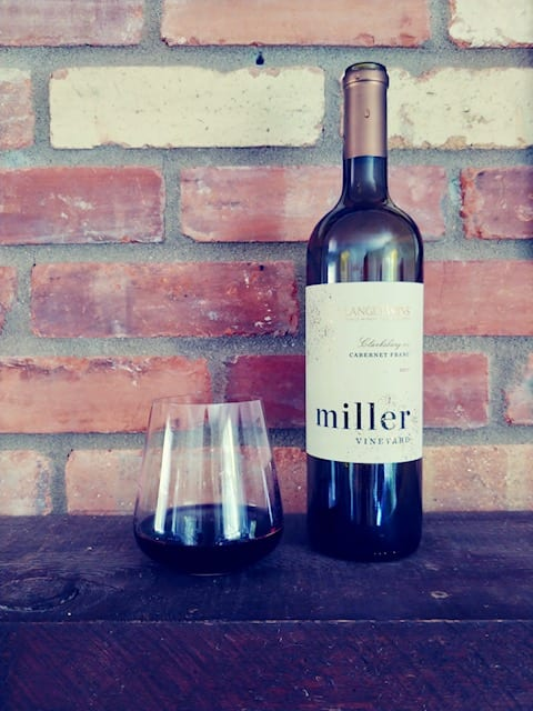 miller vineyards bottle and glass- california wine club reviews-mealfinds