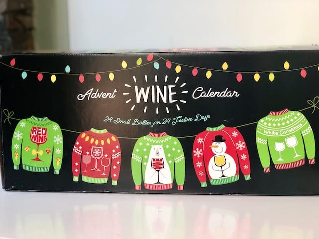 sip-and-savor ugly sweater wine advent calendar box-wine advent calendar-mealfinds