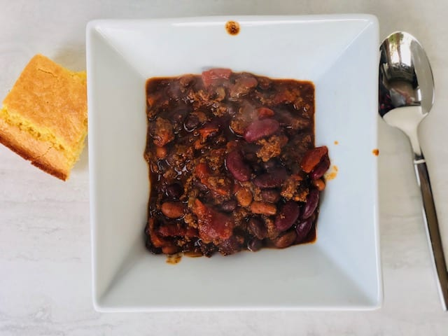 bison meat chili in bowl-The Honest Bison Bison Meat Reviews-mealfinds