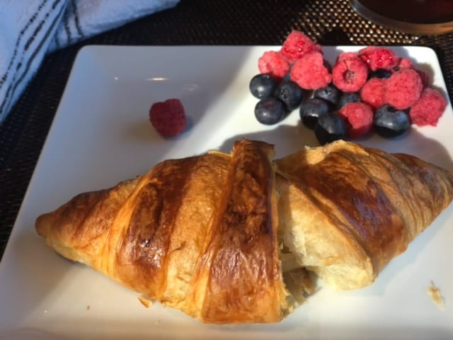 baked croissant with berries on plate-Wildgrain Baking Kit Reviews - MealFinds