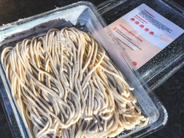 pasta in container on counter-Wildgrain Baking Kit Reviews - MealFinds