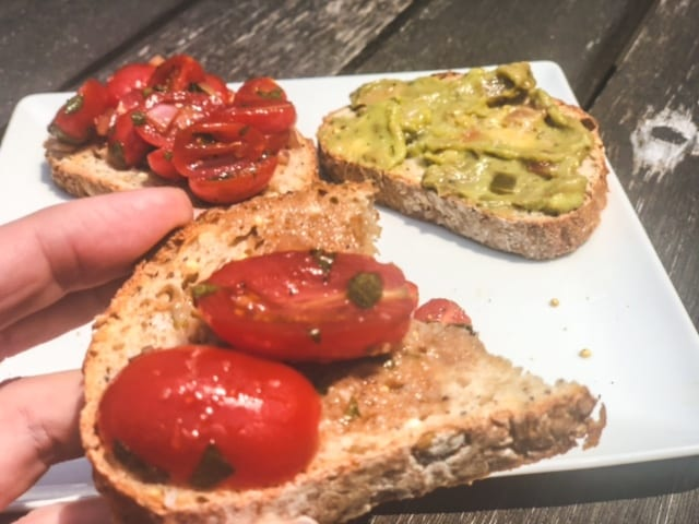 toasted 3 seed bread with tomatoes and avocado- wildgrain baking kit reviews-mealfinds