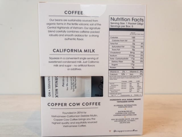 copper cow coffee nutrition box info-copper cow coffee reviews-mealfinds