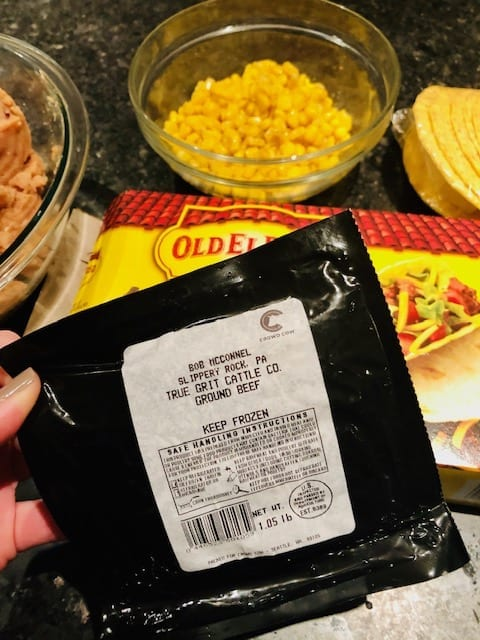 premium ground beef package label-crowd cow review-mealfinds