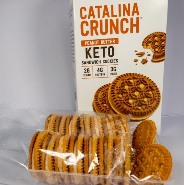 peanut butter cookies out of box in tray-catalina crunch keto cereal reviews-mealfinds