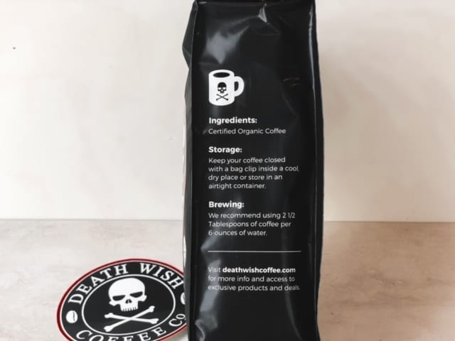 death wish coffee bag ingredients-death wish coffee company review-mealfinds