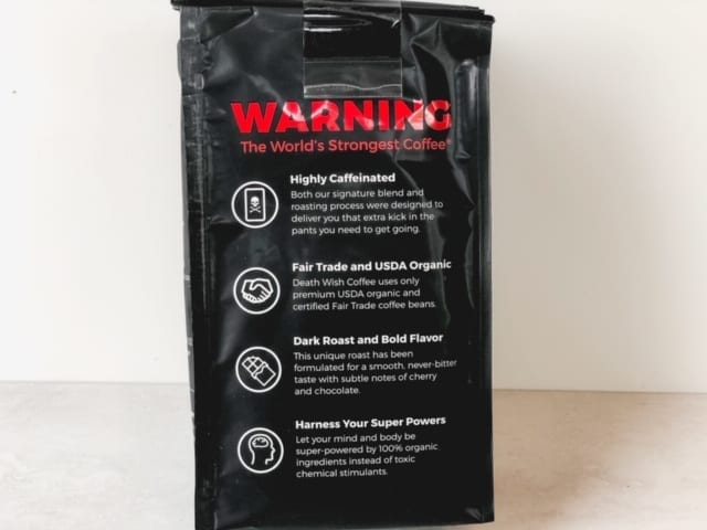 death wish coffee bag label-death wish coffee company review-mealfinds