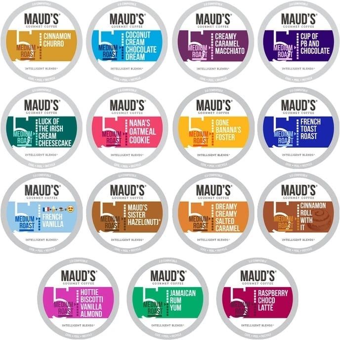 mauds-flavored-variety-pack- gifts for coffee lovers-mealfinds