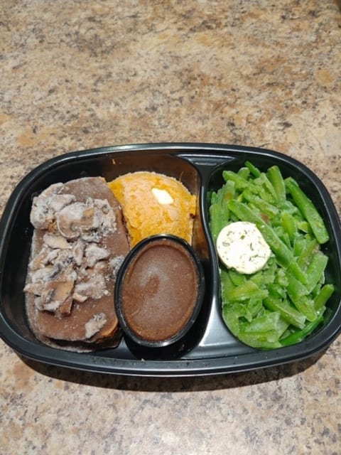 turkey meatloaf with green beans frozen-top chef meals reviews-mealfinds