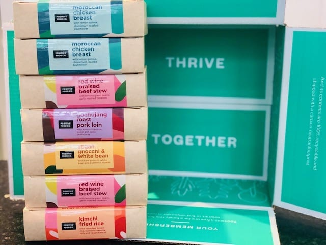 thrive market positive food co prepared meals stacked up-thrive market reviews-mealfinds