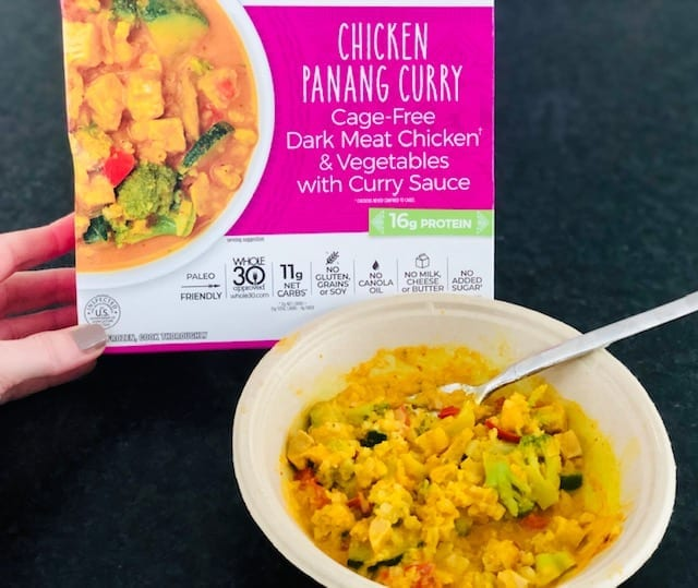 thrive market primal kitchen chicken panang curry cooked-thrive market reviews-mealfinds