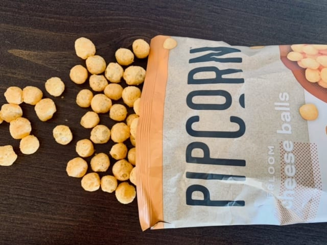hungryroot pipcorn snack spilling on table-hungryroot reviews-mealfinds