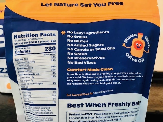 snow-days-ingredients and nutrition facts- Snow Days Pizza Bites Snack Reviews - MealFinds
