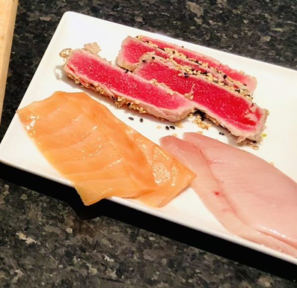 sushify-nigiri on plate- Sushify Meal Kit Reviews - MealFinds