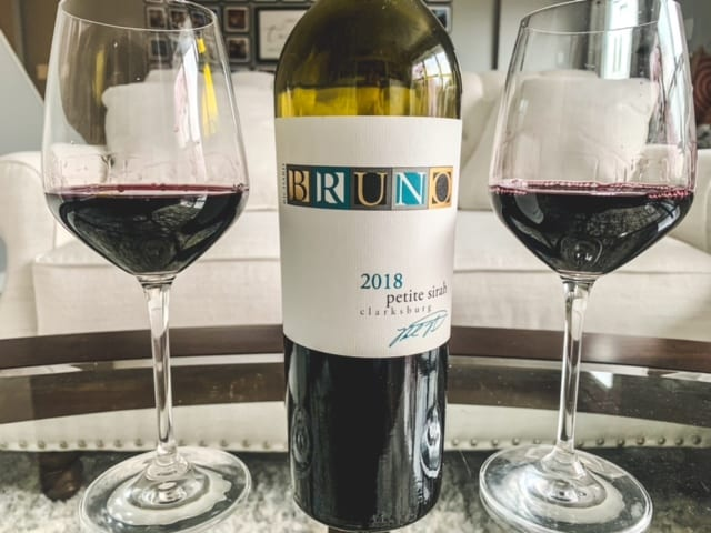 bruno wine bottle with two full wine glasses-naked wines reviews-mealfinds