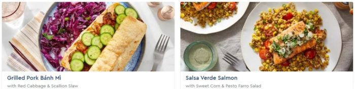 blue apron recipes - review for blue apron - mealfinds