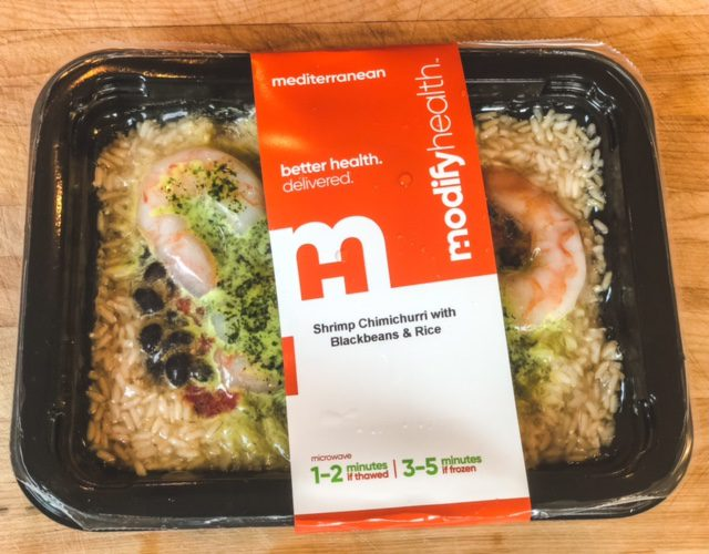 shrimp chimichurri in package- modify health food delivery reviews - mealfinds