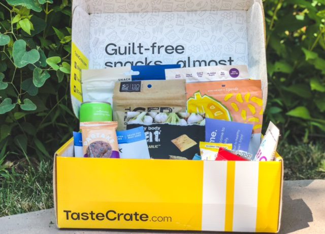 tastecrate box open with snacks-tastecrate review-mealfinds