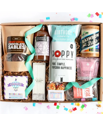 birthday in a box snack box by mouth-food gift ideas-mealfinds
