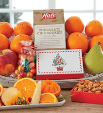 holiday deluxe gift basket by hale groves-food gift ideas-mealfinds