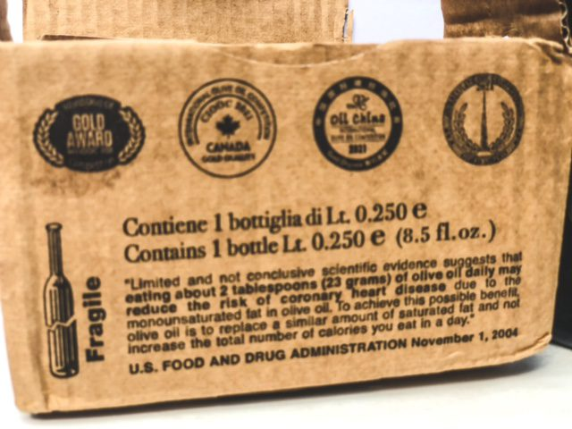 manni oil of life olive oil box with awards-MANNI Extra Virgin Olive Oil Reviews-mealfinds